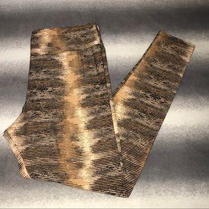 LuLaRoe TC Striped Earth Tone Leggings